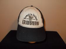 Guinness Beer Ireland drinking low profile velcro closer strapback hat sku22