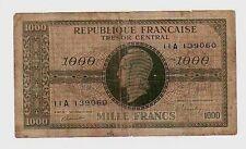 Francia France 1000 ff  1944   MB  pick 107  lotto 24