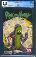 Rick and Morty 37 (Oni Press) CGC 9.8  White Pages X-Men 141 Cover Homage