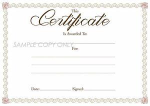 6 x Blank Award Certificates, High Quality A4 Card &  HP Print