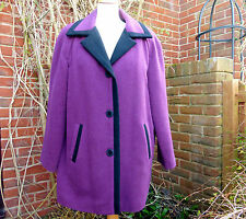 Vintage purple wool/cashmere three quarter length coat,14 - David Barry, London