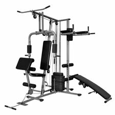 vidaXL Palestra Panca Multifunzione Fit Pesi 65 kg Addominali Muscoli Training
