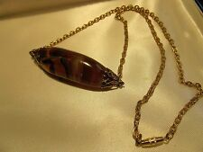 """VTG CARNELIAN AGATE STONE NECKLACE 19"""" 50% 1 DAY CHARITY"""