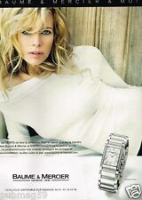 Publicité advertising 2007 La Montre Baume & Mercier avec Kim Basinger