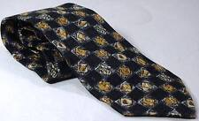 BOLGHERI Tie Handmade Silk Black and Gold 59 Inches Long