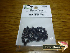 Hareline Brass Dumbbell Eyes Fly Tying Materials Assorted Colors Various Sizes BEL11 Large Black