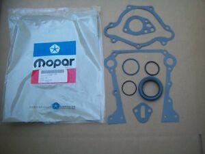 NOS MoPar Plymouth Dodge Chrysler 318 360 Engine Front Lower Gasket Set