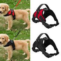 Pet Control Harness Large Dog Cat Soft Black Mesh Walk Collar Safety Strap Vest