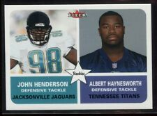 2002 Fleer Tradition Minis 299 John Henderson Albert Haynesworth Rookie 20/125