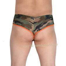 Camouflage Men Spandex Brief Boxer Underwear Pouch Swimwear Mini Trunks Bikini L
