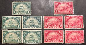 TDStamps: US Stamps Scott#614 (5) 615 (5) Mint NH OG