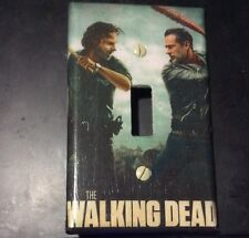 The Walking Dead Light Switch wall plate cover- Rick Vs Negan