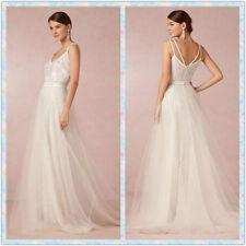 Strappy/Spaghetti Strap A-line Sleeveless Wedding Dresses