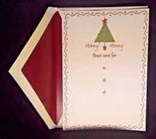Merry Christmas Holiday Card Invitations 8 & Envelope Barbara Wilson # 74930E40