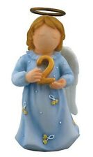 Growing Up Age 2 Terraflo Blue Dress Guardian Angel, 2.5 inches