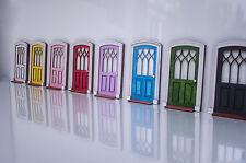 Doll House Front Door, Miniature DIY KIT Internal Wooden Door, Imaginative play