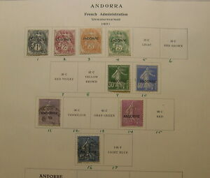 Andorra French Administration 1931-1971 MLH collection SCV $1100 HZ8