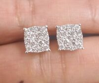 1.00CTW NATURAL ROUND DIAMOND CLUSTER FASHION STUDS EARRINGS IN 14K GOLD