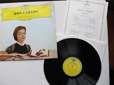 "Don Carlos 12 "" Lp  Mailander Scala Conducter Santini DG LEMP 19 274 Germany  63"