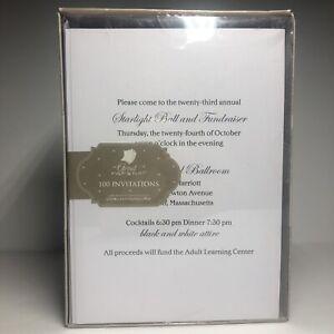 Hortense B. Hewitt 100 Count Blank DIY Invitation Kit, White - (E2)