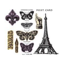 Sizzix Framelits Die Set 9PK w/Stamps - French Flight