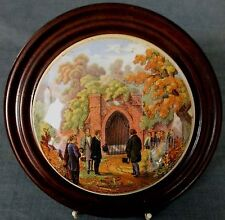 19th.C PRATTWARE POT LID - THE PRINCE OF WALES VISITING THE TOMB of WASHINGTON