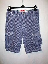 Men's SUPERDRY cotton checked cargo combat shorts size S GREAT cond COOL