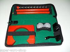 Golf Putter-Set  in Tasche f. unterwegs/Büro  + elektrische Puttmaschine gratis