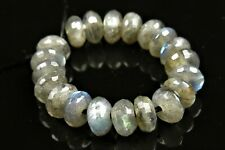 High Iridescent Labradorite Small Faceted Rondelles - 6 x 3 mm - 20 beads -7411A