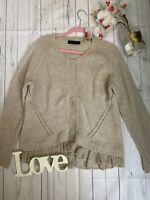 Twin Set Simona Barbieri M 14 16 slouch look knitted popper up cosy cardigan GC