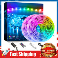 Led Strip Lights 32.8ft Color Changing Non Waterproof RGB 300 LEDs IR Remote