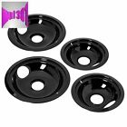 GE/Hotpoint Porcelain Stove Drip Pans Electric Burner Covers Top Replacement Set photo