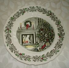 Johnson Bros. Merry Christmas Dinner Plates/ 9 Avail./ Estate Sale Find!