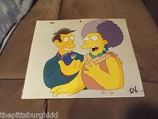 AWESOME VERY  RARE THE SIMPSONS TV PRODUCTION CEL PRINCIPAL & PATTY VERY COOL