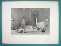 TURKEY Brusa Mausoleum of Sultan Mahomed - 1840 Antique Print by Allom