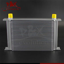 Universal 25 Row AN10 Engine Transmission 248mm 10-AN Oil Cooler Silver