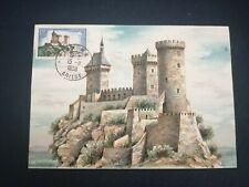 FRANCE CARTE POSTALE YVERT 1175 CHATEAU DE FOIX 15F ARIEGE 1958