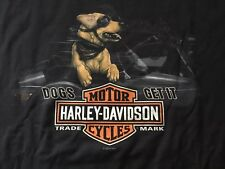 Harley Davidson Dogs Get It Black Shirt Nwt Men's XXL
