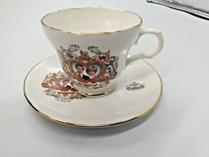 Crown Trent Bone China Cup & Saucer Charles & Diana Marriage 1981