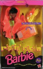 1991 Vintage Rappin Rockin Barbie Christie Doll.  MIB
