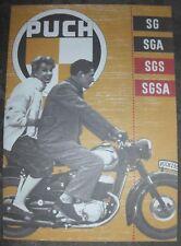 1956 PUCH MODELLE SG SGA SGS SGSA OLDTIMER SAMMLER PROSPEKT
