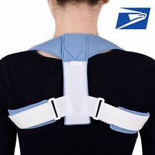 US Stock Men Fully Adjustable Posture Back Support Corrector Brace Shoulder Belt