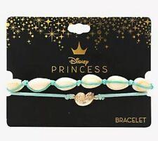 Disney Princess Ariel The Little Mermaid And Ursula Shell Cord Bracelet Set