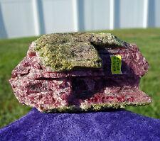 Watermelon TOURMALINE Crystal Natural Point Bi Color Rubelite Pink & Green