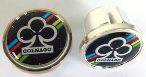 2 Caps Hanger Handlebar COLNAGO Black New (BAR End Plugs)