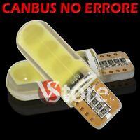 4 Led T10 Lampade Gel Silica SMD COB No Errore Canbus BIANCO Xenon Lampadine W5