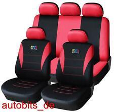 Sitzbezüge Rot Komplettset FÜR RENAULT CLIO MEGANE MPV LAGUNA SCENIC PEUGEOT