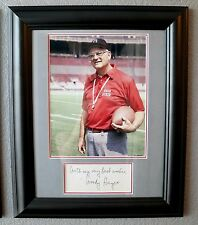 COACH WOODY HAYES SIGNED CUT FRAMED MATTED 8X10 PHOTO AUTOGRAPH AUTO OHIO STATE
