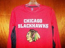 Chicago Blackhawks NHL Hockey Long-Sleeved Shirt Jersey Pro Team Hawks Mens XS S