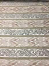 Vintage Versatile 56� Cotton Flamestitch beige Chenille stripe pattern tapestry